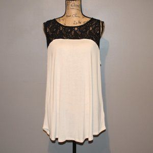 Old Navy Sleeveless Blouse Black And Cream